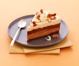 Ciasto z trzech rodzajów czekolady