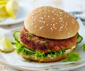 Lososový burger