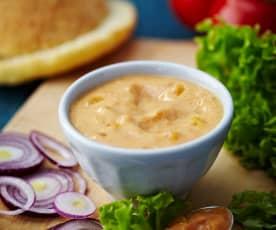Dipsaus van abrikozenyoghurt met curry