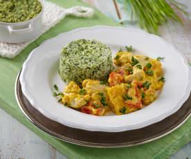 Kuřecí ragú se špenátovou rýží