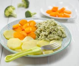 Králík na mrkvičce s brokolicí