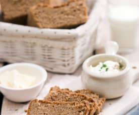 Chleb gryczany z czosnkiem i chrzanem