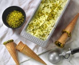 Pistáciová zmrzlina bez vajec