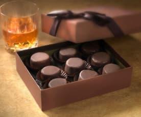 Diamanti ripieni di gelato al whisky