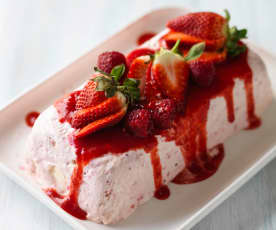 Eton Mess Parfait with a Fresh Berry Sauce