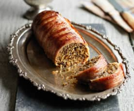 Haggis and Pancetta Roulade with Whisky Sauce