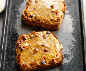 Welsh Rarebit with Branston Pickle