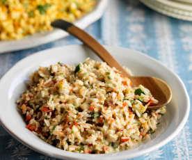 Vegetarischer Reissalat