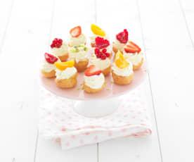 Mini-choux aux fraises