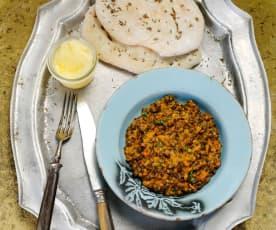 Dal makhani - Lentilhas com manteiga