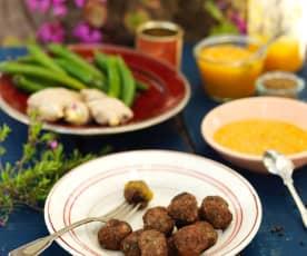 Kofty z jagnięciny i chutney z mango