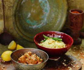 Tikka masala de frango com arroz de limão