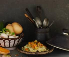 Bidawi- Cuscuz de borrego e legumes