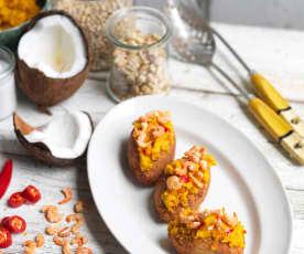 Acarajé - Pastel de feijão-frade com recheio de leite de coco