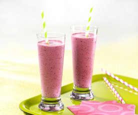Milkshake aux fruits rouges