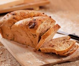 Pão de nozes e chocolate