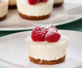 Mini cheesecakes de chocolate branco