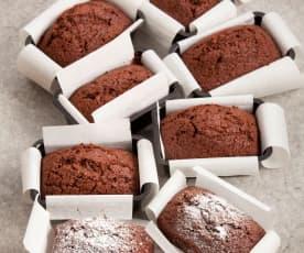 Minibolos de chocolate