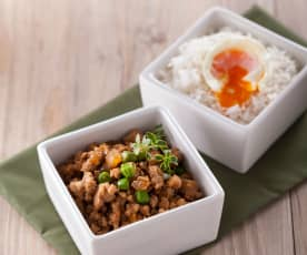 Braised Pork and Egg with Rice