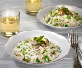 Asparagus and pipis (clams) risotto
