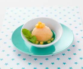 Parfait melon-menthe