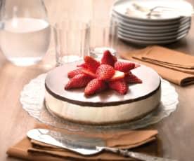 Cheesecake ai due cioccolati e fragole