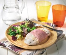 Pollo, formaggio e prosciutto