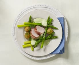 Filet de porc aux asperges