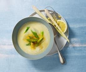 Soupe asperge citron