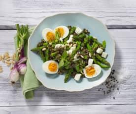 Salade de lentilles aux asperges