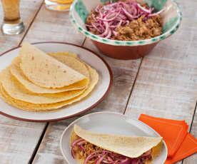 Cochinita pibil - geschmortes Schweinefleisch