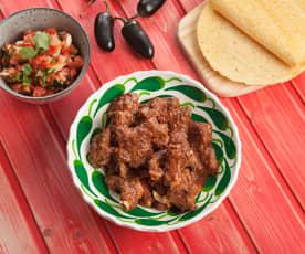 Travers de porc à la mexicaine et salade pico de gallo