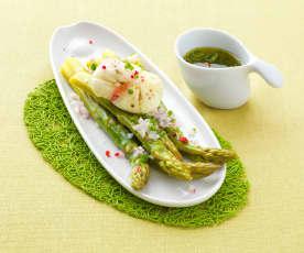 Insalata tiepida di asparagi e uova barzotte