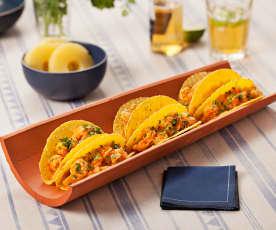 Tacos aux crevettes et ananas