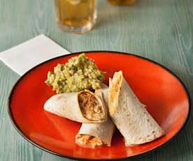 Hähnchen-Burritos mit Chipotlesauce