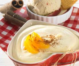 Jablečno-banánová zmrzlina se sušenkami Spekulatius® nebo Lotus®