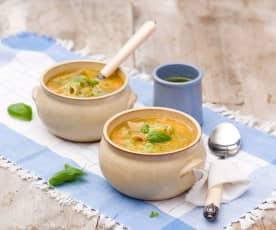 Prowansalska zupa warzywna z domowym pesto