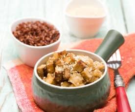 Curry z tofu i aromatycznym ryżem