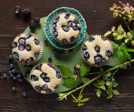 Muffiny s borůvkami a ostružinami