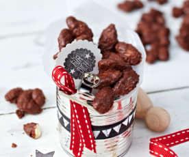 Kakaovo-kávové mandle