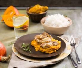 Azjatyckie curry z dynią i żeberkami