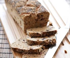 Pão com gérmen de trigo e passas