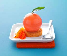 Sphère comme une orange sanguine
