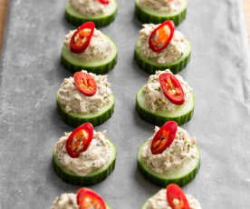 Tuna Tapenade on Cucumber