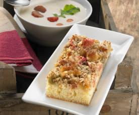 Rhubarb Marzipan Slices