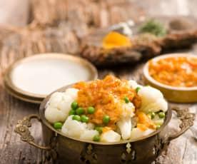 Wegetariańskie curry ziemniaczane z kalafiorem (aloo gobi)