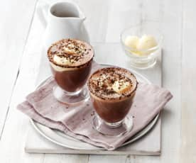 Affogato de chocolate