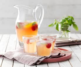 Raspberry and Basil Sangria