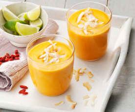 Smoothie carote e cocco