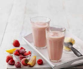 水蜜桃莓果冰沙